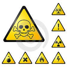 Výstražné štítky a značenia